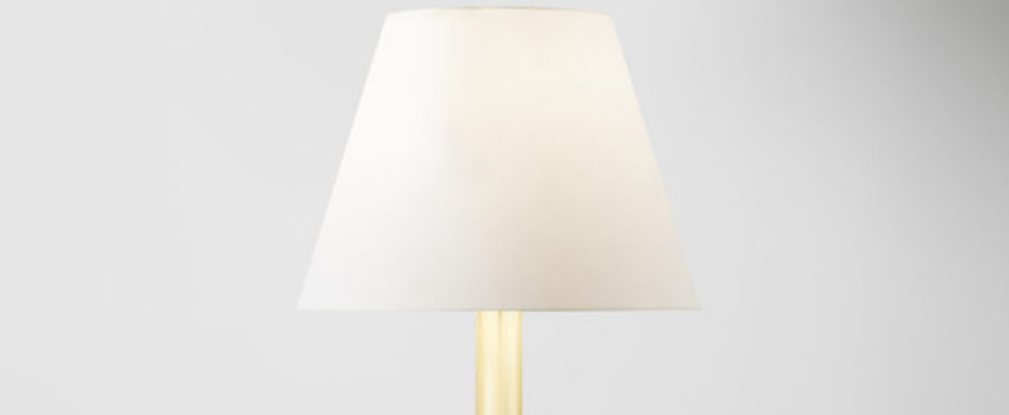 Lampe a poser calee xs blanc et laiton o22cm h42cm cvl normal