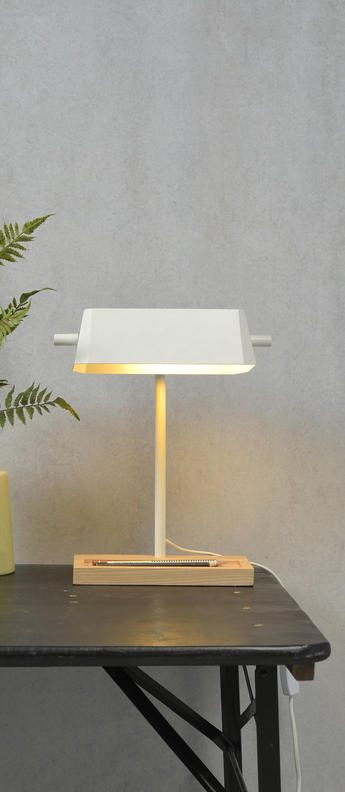 Lampe a poser cambridge blanc l25cm h40cm it s about romi normal