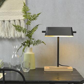 Lampe a poser cambridge noir l25cm h40cm it s about romi normal