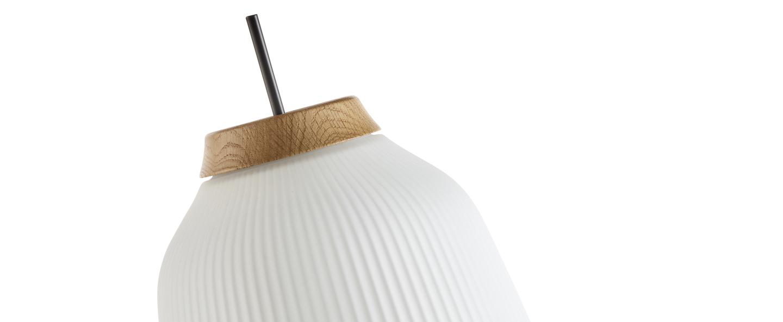 Lampe a poser campa noir mat o27cm h61 5cm bolia normal