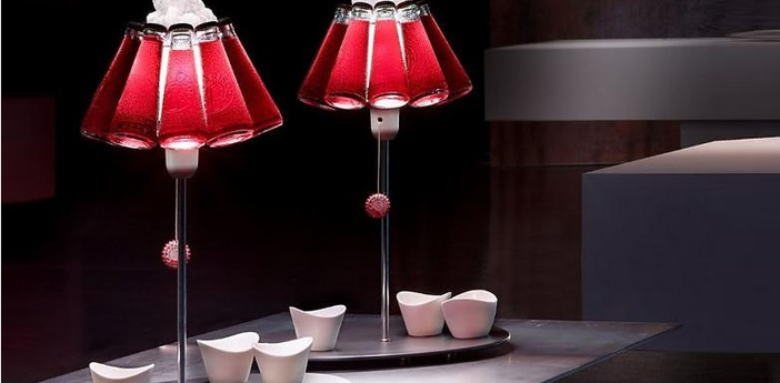 Lampe a poser campari bar rouge o23cm h20cm ingo maurer normal