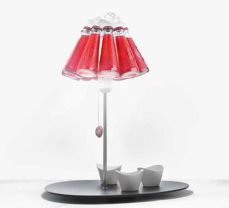 Lampe a poser campari bar rouge o23cm h20cm ingo maurer 65257 product