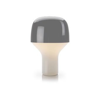 Lampe a poser cap gris h23cm o16cm teo normal