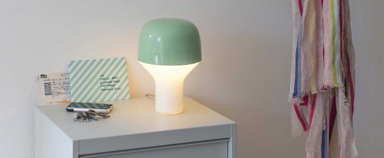 Lampe a poser cap vert clair h23cm o16cm teo normal