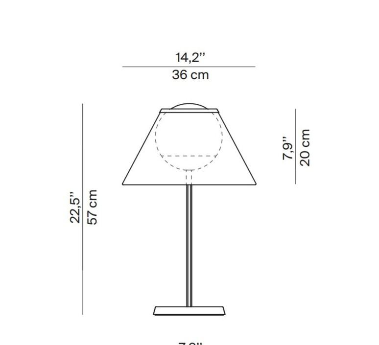 Cappuccina inga sempe lampe a poser table lamp  luceplan 1d880 d00004 1d8801000003  design signed 55254 product