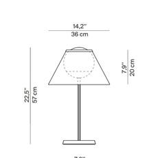 Cappuccina inga sempe lampe a poser table lamp  luceplan 1d880 d00004 1d8801000003  design signed 55254 thumb