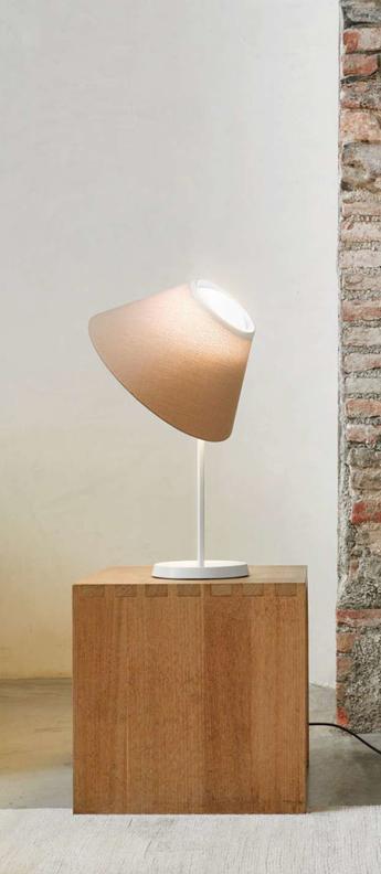 Lampe a poser cappuccina marron led o36cm h57cm luceplan normal