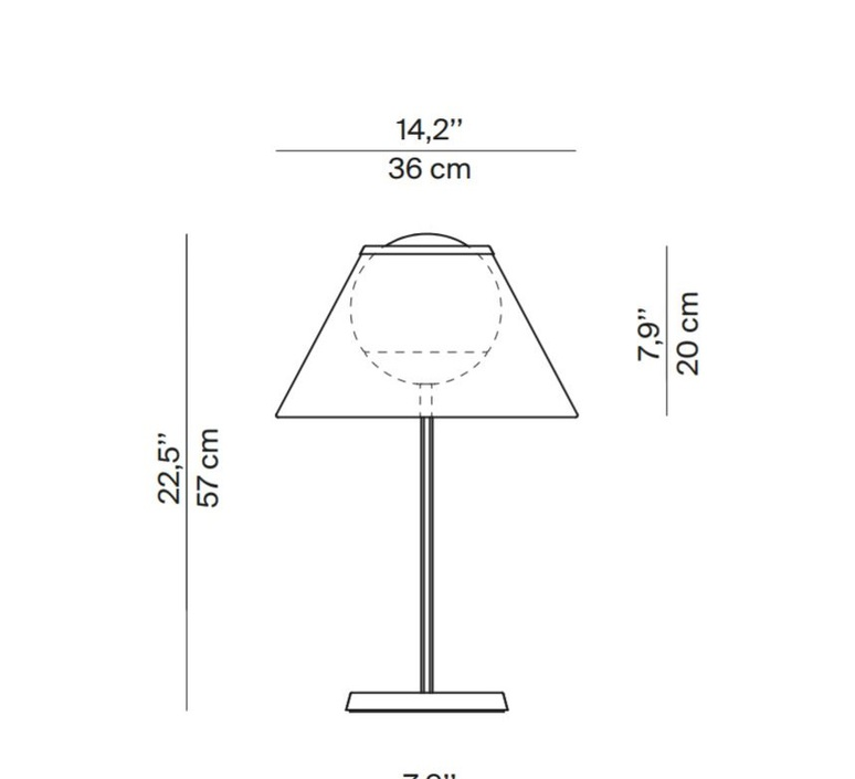 Cappuccina inga sempe lampe a poser table lamp  luceplan 1d880 d00004 1d8801000011  design signed 55274 product
