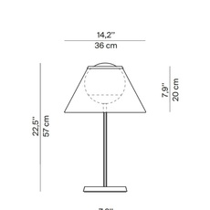 Cappuccina inga sempe lampe a poser table lamp  luceplan 1d880 d00004 1d8801000011  design signed 55274 thumb