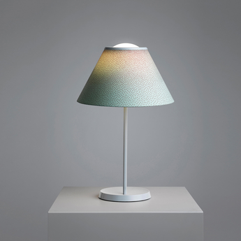 Lampe a poser cappuccina vert aluminium led 600lm 3000k o36cm h57cm luceplan normal