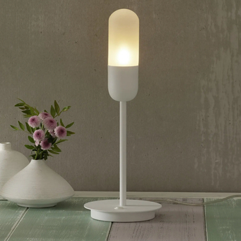 Lampe a poser capsule blanc o17cm h48cm alma light normal