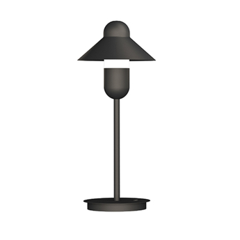 Lampe a poser capsulehat anthracite o17cm h48cm alma light normal