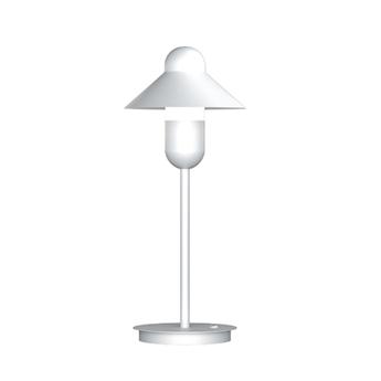Lampe a poser capsulehat blanc o17cm h48cm alma light normal