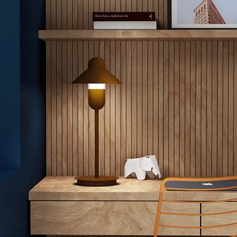 Lampe a poser capsulehat corten o17cm h48cm alma light normal