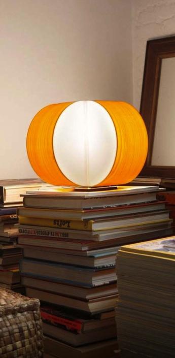 Lampe a poser carambola m jaune led o30cm h22cm lzf normal