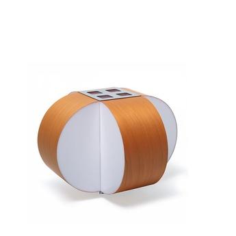 Lampe a poser carambola m orange led o30cm h22cm lzf normal