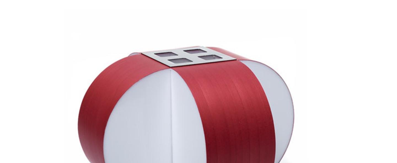 Lampe a poser carambola m rouge led o30cm h22cm lzf normal