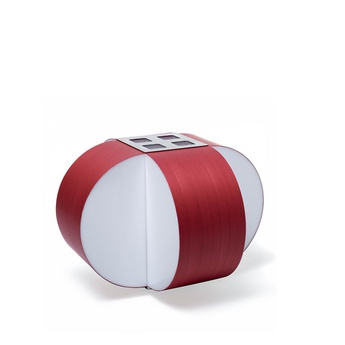 Lampe a poser carambola m rouge led o30cm h22cm lzf normal