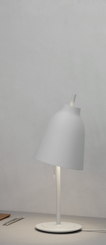 Lampe a poser caravaggio table matt gris o20cm h51 7cm lightyears normal