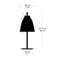 Caravaggio table matt cecilie manz lampe a poser table lamp  nemo lighting 52403112  design signed nedgis 67173 thumb