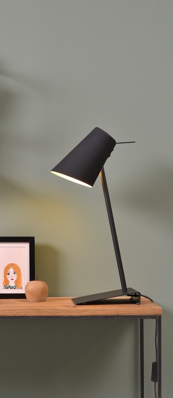 Lampe a poser cardiff tb noir o20cm h54cm it s about romi normal