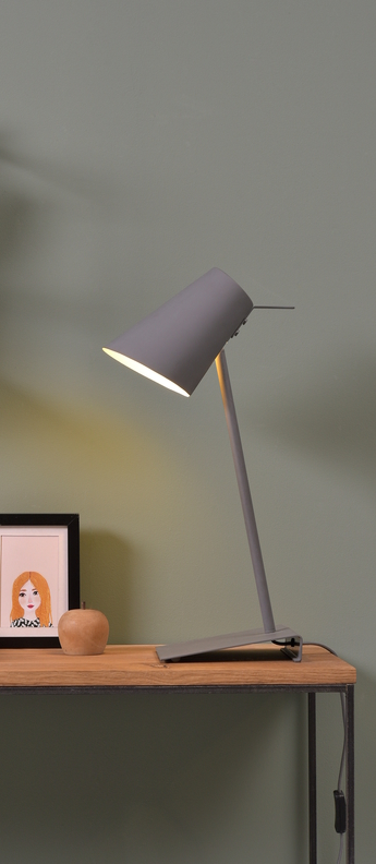 Lampe a poser cardiff tdg gris o20cm h54cm it s about romi normal