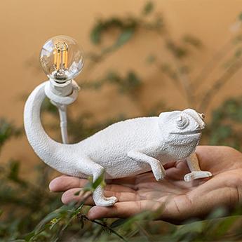 Lampe a poser chameleon lamp still blanc l17cm h14cm seletti normal