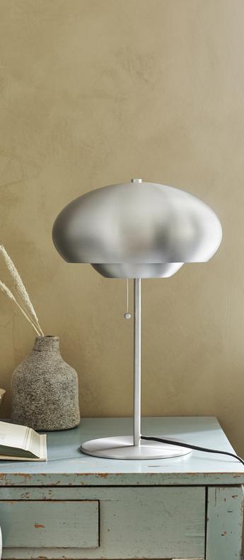 Lampe a poser champ aluminum brosse mat o30cm h50cm frandsen normal