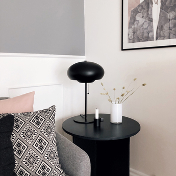 Lampe a poser champ noir mat o30cm h50cm frandsen normal