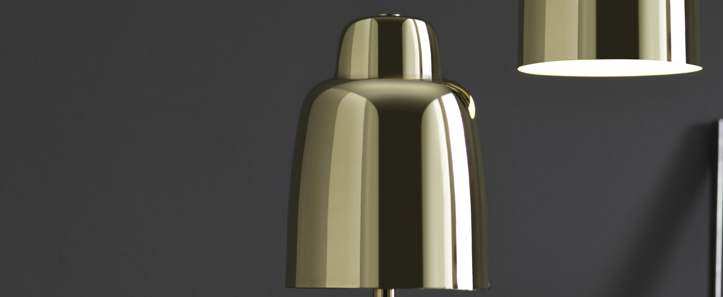 Lampe a poser champagne or satine o12cm h32cm pholc normal
