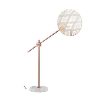 Lampe a poser chanpen diamond m blanc cuivre o26cm h80cm forestier normal