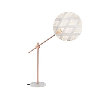 Lampe a poser chanpen diamond m blanc cuivre o36cm h85cm forestier normal