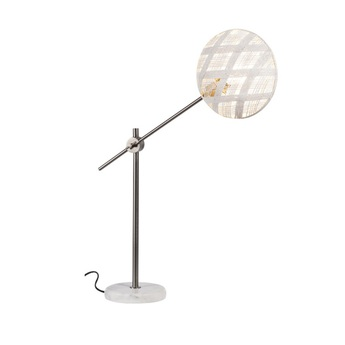 Lampe a poser chanpen diamond m blanc gris o26cm h80cm forestier normal
