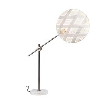 Lampe a poser chanpen diamond m blanc gris o36cm h85cm forestier normal