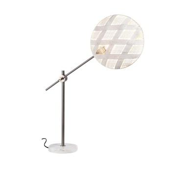 Lampe a poser chanpen diamond m blanc gris o36cm h85cm forestier normal