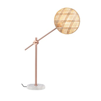 Lampe a poser chanpen diamond m naturel cuivre o26cm h80cm forestier normal