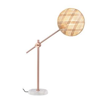 Lampe a poser chanpen diamond m naturel cuivre o26cm h80cm forestier normal