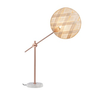Lampe a poser chanpen diamond m naturel cuivre o36cm h85cm forestier normal