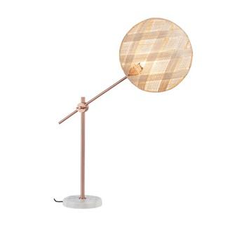 Lampe a poser chanpen diamond m naturel cuivre o36cm h85cm forestier normal