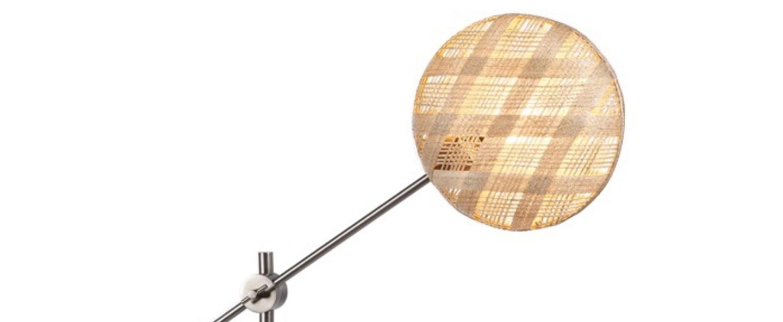 Lampe a poser chanpen diamond m naturel gris o36cm h85cm forestier normal