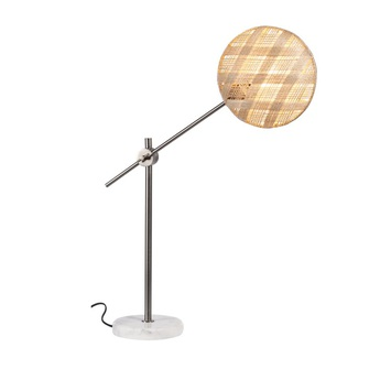 Lampe a poser chanpen diamond m naturel gris o36cm h85cm forestier normal