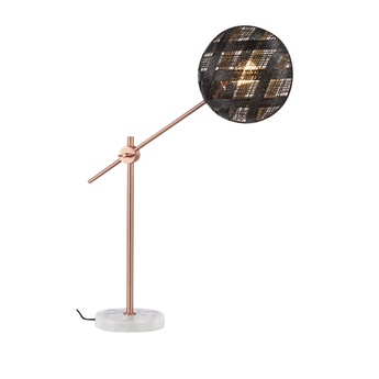 Lampe a poser chanpen diamond m noir cuivre o26cm h80cm forestier normal
