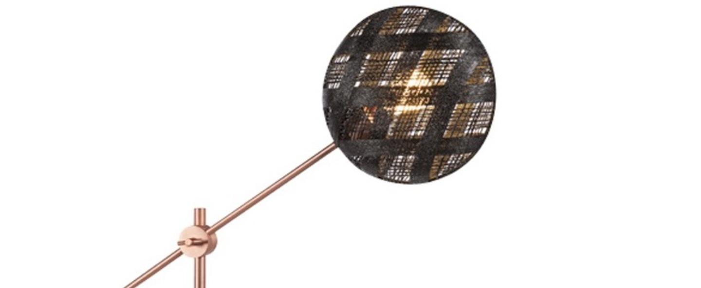 Lampe a poser chanpen diamond m noir cuivre o36cm h85cm forestier normal