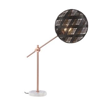 Lampe a poser chanpen diamond m noir cuivre o36cm h85cm forestier normal