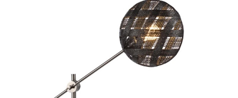 Lampe a poser chanpen diamond m noir gris o26cm h80cm forestier normal