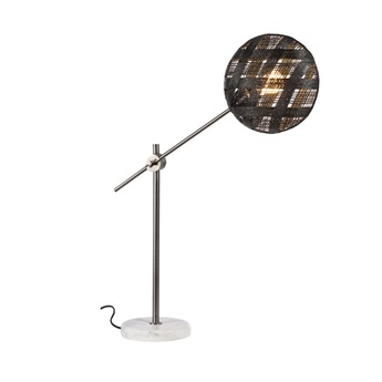 Lampe a poser chanpen diamond m noir gris o26cm h80cm forestier normal