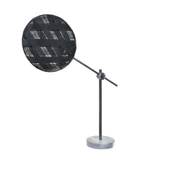 Lampe a poser chanpen diamond m noir gris o36cm h85cm forestier normal