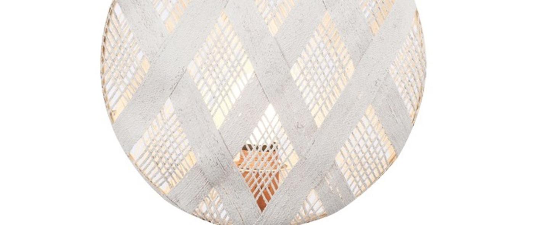 Lampe a poser chanpen diamond s blanc cuivre o26cm h41cm forestier normal
