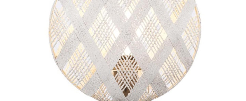 Lampe a poser chanpen diamond s blanc gris o26cm h41cm forestier normal