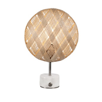 Lampe a poser chanpen diamond s naturel gris o26cm h41cm forestier normal